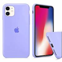 Силиконовый Чехол на iPhone 11 голубой Silicone Case glycine ( чехол айфон 11 )