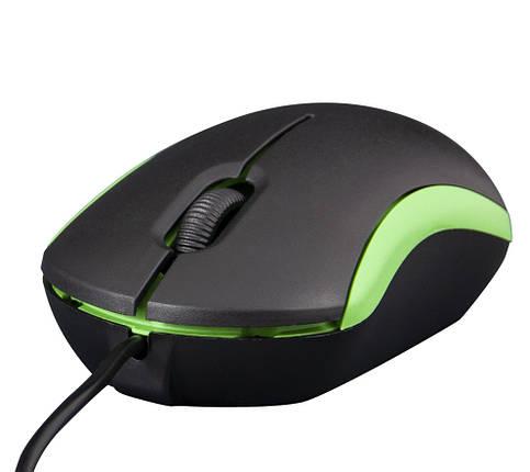 Мышь Frime FM-010 черно-зеленая USB, фото 2