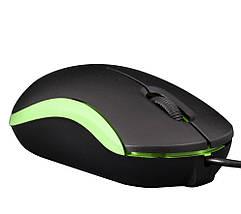 Мышь Frime FM-010 черно-зеленая USB, фото 3