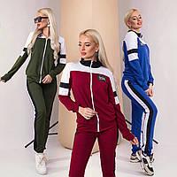 Модный спортивный классический женский костюм /разные цвета, S, M, L, ST-57016/