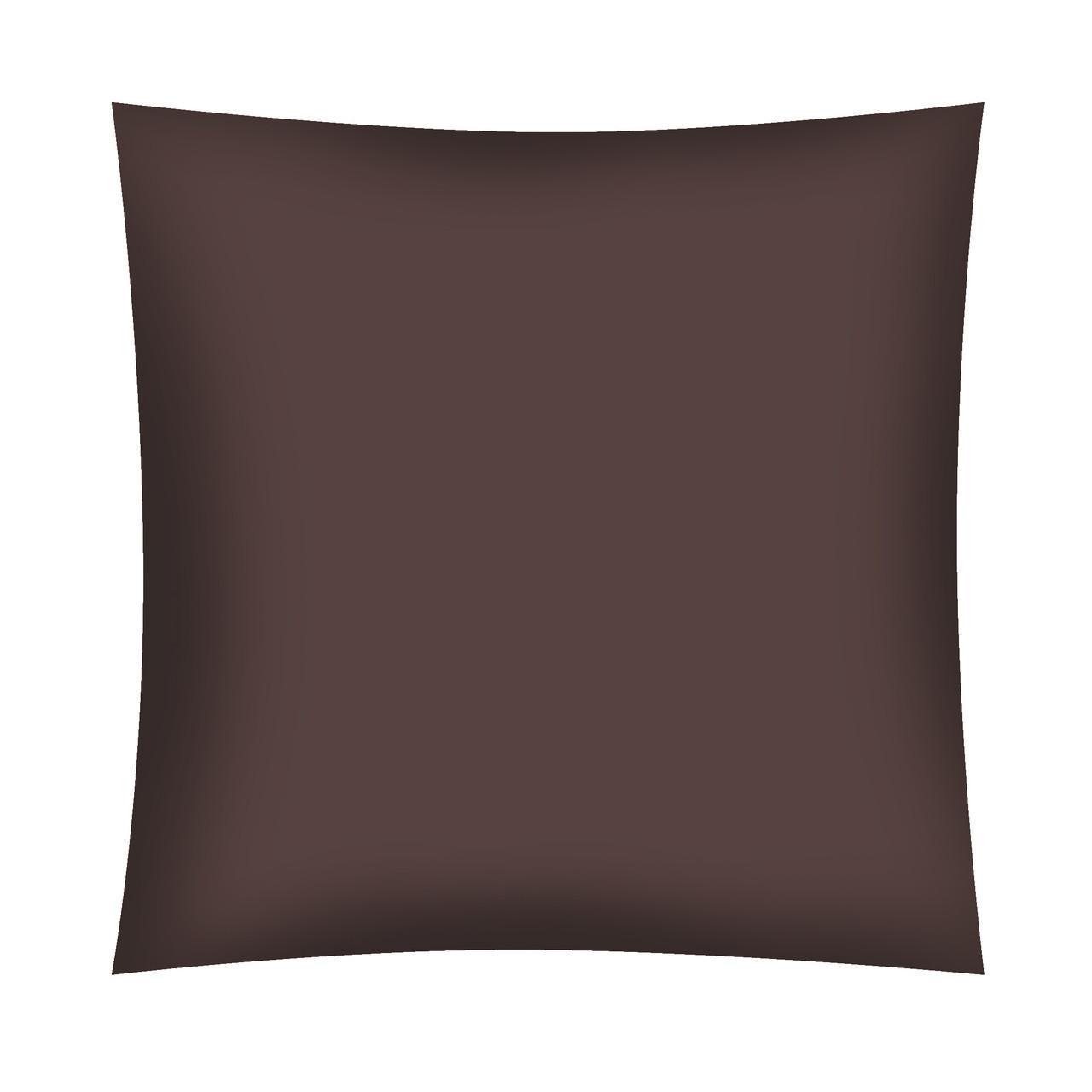 Ткань поплин De Luxe темно-коричневая однотонная (ТУРЦИЯ) ОТРЕЗ (размер 0,6*2,4 м)