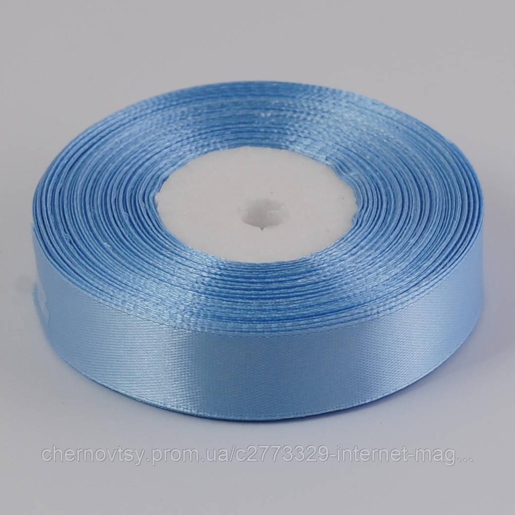 Лента атлас 0.9 см, 33 м, Светло-голубая ТВ