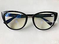 Очки для компьютара, компьютерные очки антиблик, женские, лисички ЕАЕ 2141 черные