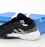 Мужские кроссовки Adidas Streetball Black Green черные с зеленым. Фото в живую. Реплика, фото 5