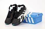 Мужские кроссовки Adidas Streetball Black Green черные с зеленым. Фото в живую. Реплика, фото 6