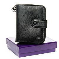 Женский компактный кожаный кошелек-визитница Dr. Bond (WS-9 черный)