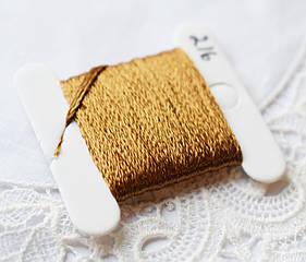 Мулине имитация шелка, 4м, 6 сложений, бронзовый