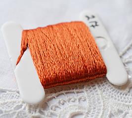 Мулине имитация шелка, 4м, 6 сложений, оранжевые яркие