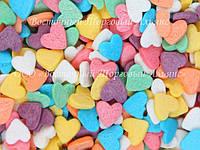 Посыпки кондитерские — Сердца разноцветные