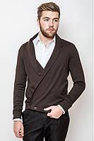 Стильный мужской трикотажный кардиган. Цвет- коричневый. ( XL  XXL)
