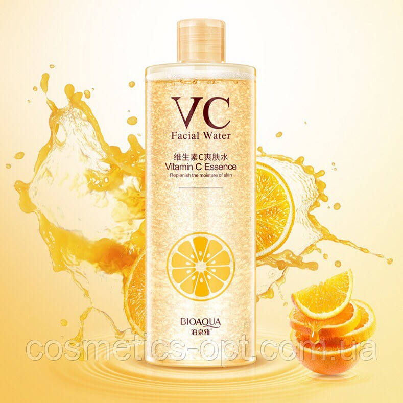 Витаминный тонер для сияния кожи Bioaqua VC Moisturizing, 500 мл