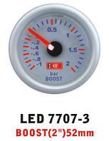 Давление турбины 7707-3 LED стрелочный диам.52мм, фото 1