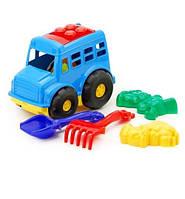 """Автобус """"Бусик"""" №2: автобус, лопатка и грабельки (ЛГ4), две большие пасочки (П4)"""