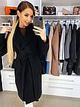 Женское качественное фабричное демисезонное шерстяное пальто с поясом (в расцветках), фото 5