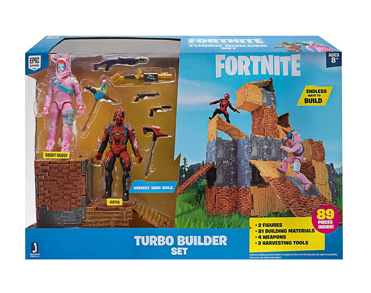 Набор фигурок Fortnite Кролик Рейдер и Вертекс Fortnite Turbo Builder Set Rabbit Raider & Vertex Jazwares