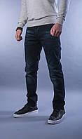 Мужские джинсы прямые темно-синие А-4609, фото 1