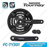 Shimano FC-TY301 Tourney Cистема шатунов велосипеда квадрат 170 мм 24-34-42 зубца