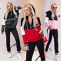 Модный спортивный женский костюм /разные цвета, S-M, M-L, ST-57013/