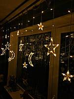 """Гирлянда-бахрома (3 Луны и звёзды) «Выше неба"""""""