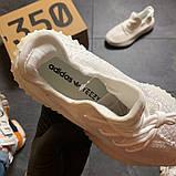 Женские Кроссовки Adidas Yeezy Boost 350 v2 full white, фото 3