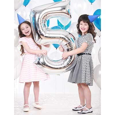 """Воздушный шарик серебро цифра 5, 40"""" (102 см) Flexmetal Испания 1635"""