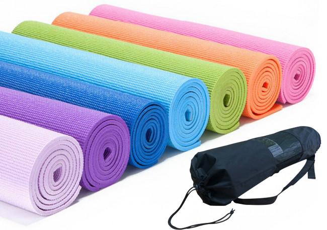 Yoga mat PVC 6 мм + чехол