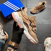 Женские кроссовки Adidas Ozweego Beige, фото 1