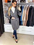 Жіноче якісне двобортні вовняне пальто з відкладним коміром, лампасами і поясом (кольори), фото 5