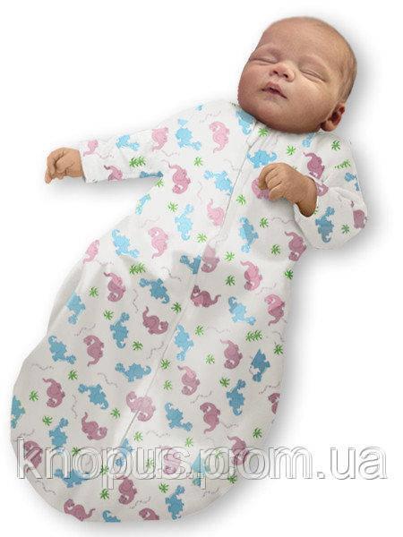 Пеленка-кокон на молнии  Summer+, с рукавами Ontario Baby