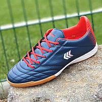 Футзалки, бампы, сороконожки кроссовки для футбола мужские подростковые синие ( код 9857 )
