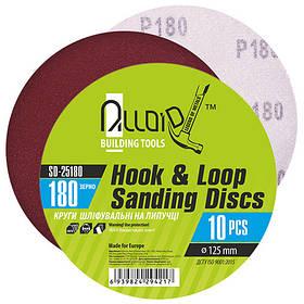 Alloid. Круг шлифовальный на липучке 125 мм, зерно 180 (10шт) (SD-25180)