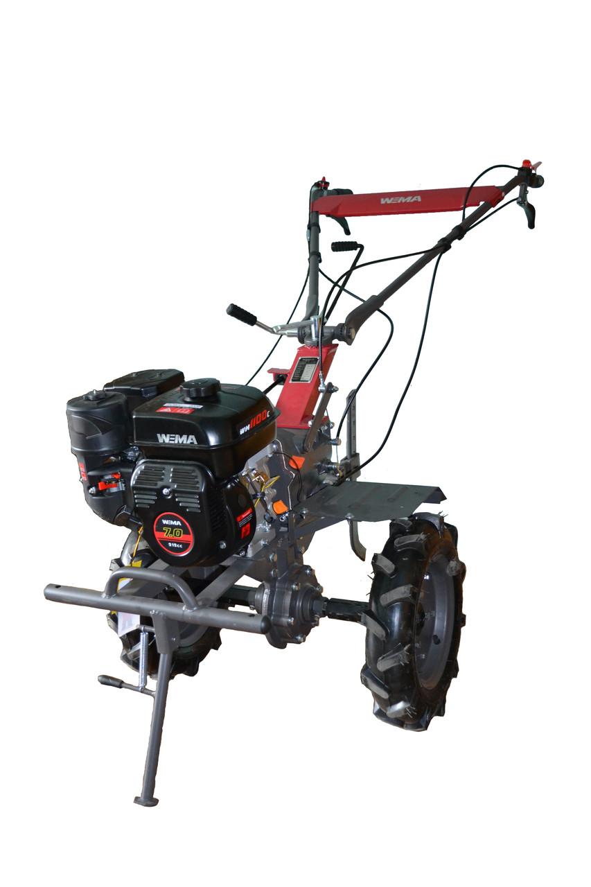 Мотоблок WEIMA WM1100С PRO (бензин 7 л.с., колеса) Бесплатная доставка