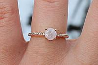 Кольцо с белым камнем имитация опала 16,18