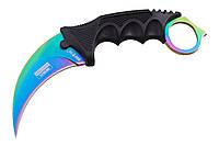 Нож керамбит нескладной, коготь из игры Counter-Strike GO Dark Blue 16853 B