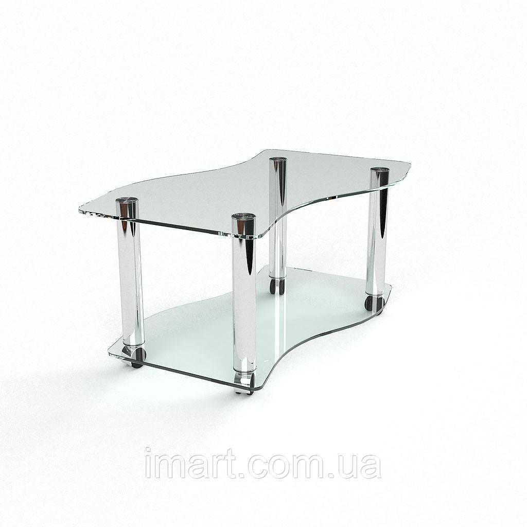 Журнальный стол Волна стеклянный