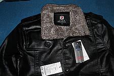 Куртка мужская кожа PU осень-зима, фото 3