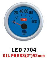 Давление масла 7704 LED диаметр 52мм. стрелочный