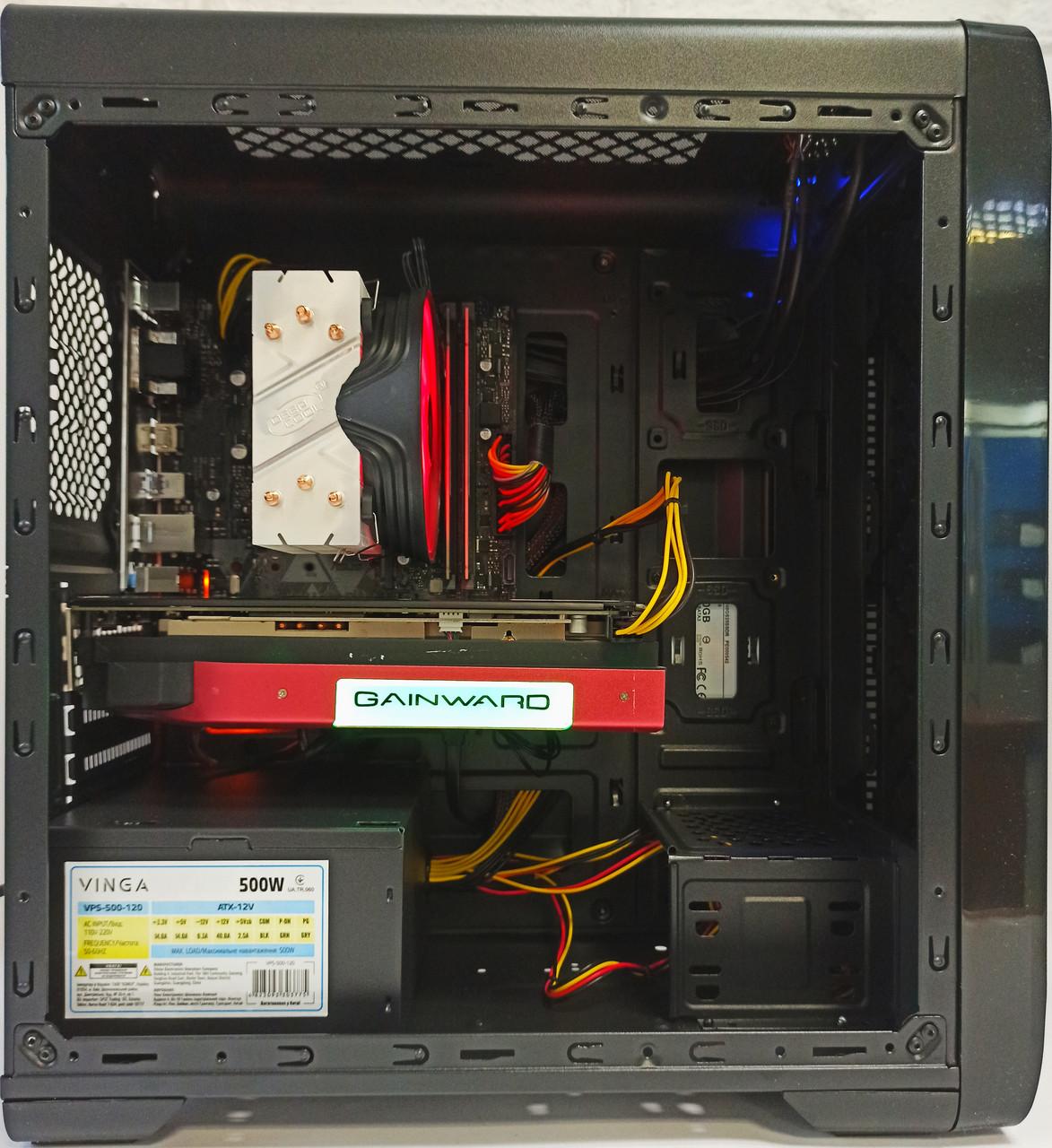 Игровой компьютер БУ i3 9100F , GTX 1060 6GB GDDR5 , 16 GB DDR4 , 1 TB HDD