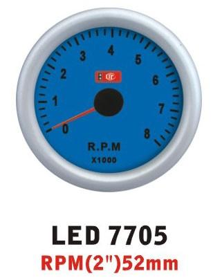 Тахометр 7705 LED стрелочный диаметр 52мм.