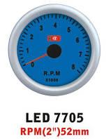 Тахометр 7705 LED стрелочный диаметр 52мм., фото 1
