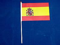 Флажок Испании 13x20см на пластиковом флагштоке