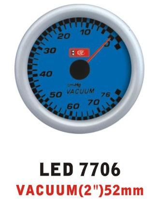 Разрежение во впускном коллекторе 7706 LED стрелочный диаметр 52мм