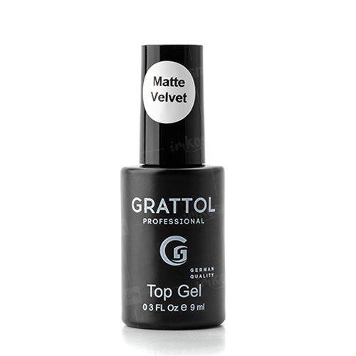 Grattol, Matte Top Gel Velvet - Матовый Топ (9 мл.)