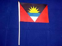 Флажок Антигуа и Барбуды 13x20см на пластиковом флагштоке