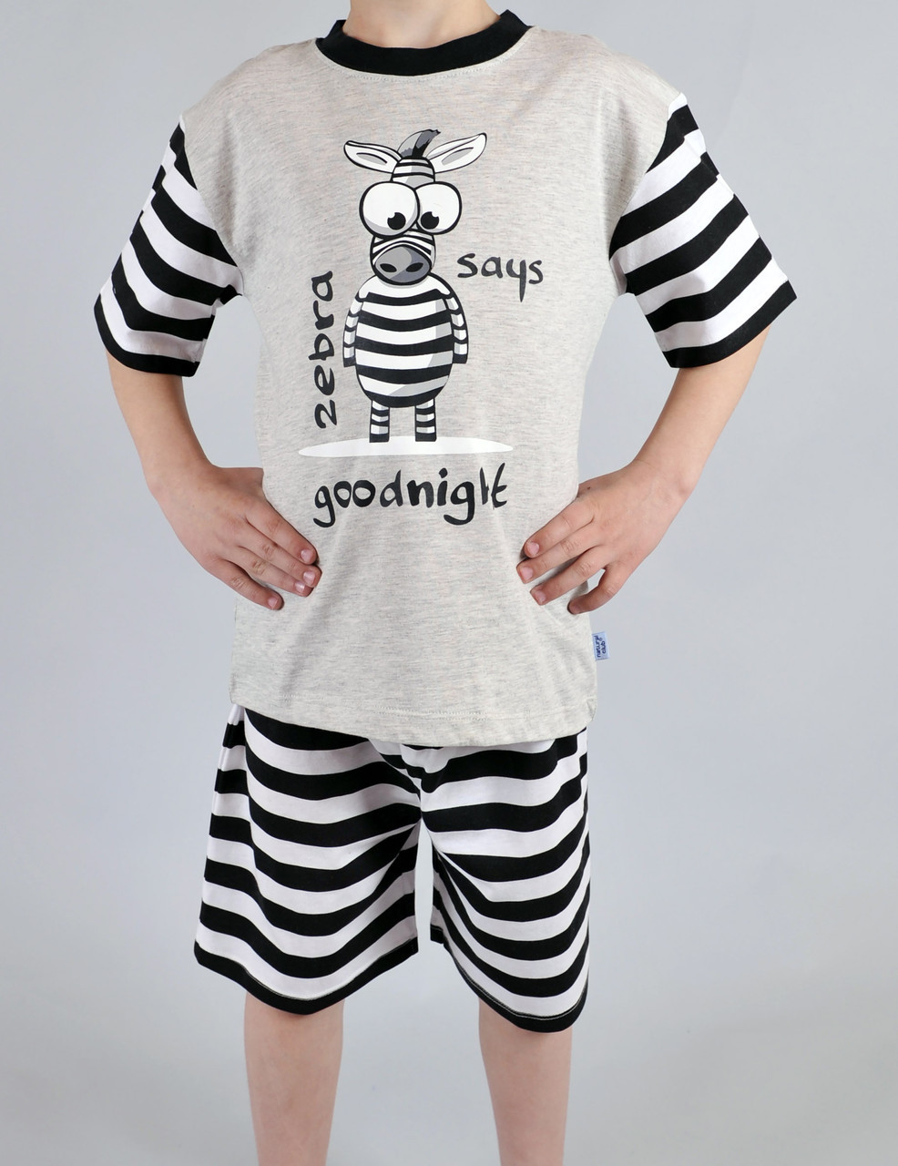 Пижама для мальчика Natural Club 11054 104 см Серый