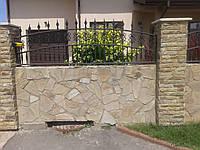 Забор с элементами ковки 28