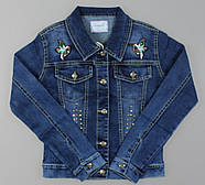 Джинсовая курточка для девочек Seagull оптом ,134-164 рр.