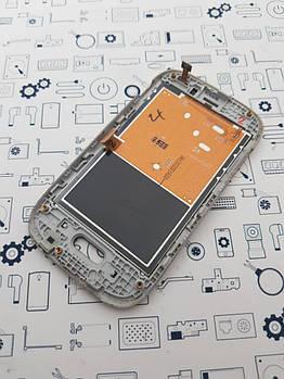 Уценка.Дисплей Samsung S6312 модуль белый Сервисный оригинал с разборки
