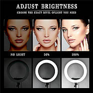 45см Кольцевой свет (55W) Visico RL-18BII AC/DC Ring Light, фото 9