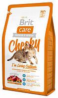 Корм для котов Brit Care Cat Cheeky I am Living Outdoor 2 кг, брит для кошек и котов, бывающих на улице